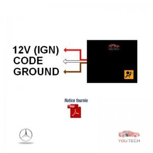 Emulateur temoin airbag allumé Mercedes Classe C W203