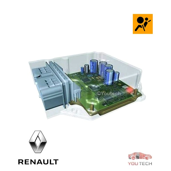 Réparation calculateur airbag 550 53 62 00 550536200 7700429436 Laguna
