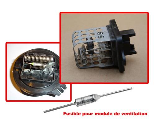 Fusible pulseur d'air ventilation