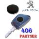 Bouton membrane plip clé Peugeot 406