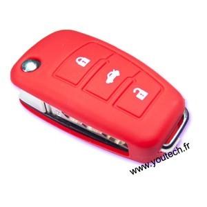 Housse coque silicone clé Audi Q7 A3 A5 A6L Q3 Q5 A4L T A8