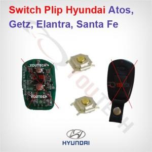 2 Boutons clé hyundai