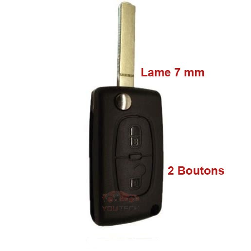 Coque télécommande Citroen 2 Boutons