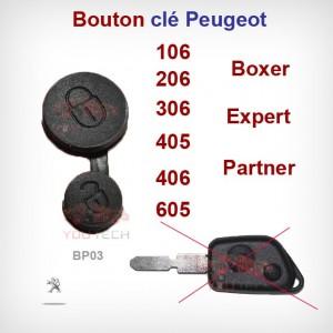 Bouton membrane plip clé Peugeot