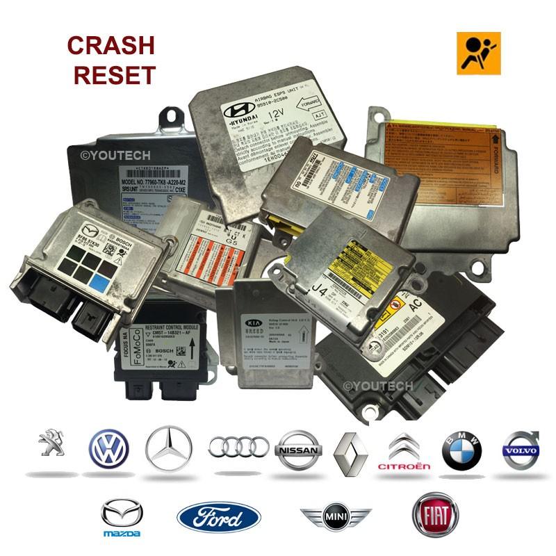 Réparation calculateur airbag TEMIC 1496758080 7367A6 9663176580 89170-0H040